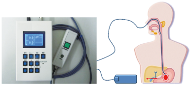 Feeding tube catheter position light detection system
